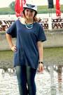 Jeans-jeans-baseball-cap-hat-oversized-t-shirt-t-shirt-watch-watch
