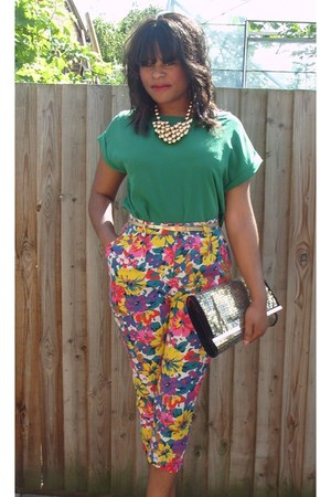 clu River Island bag - loose Zara blouse - H&M necklace