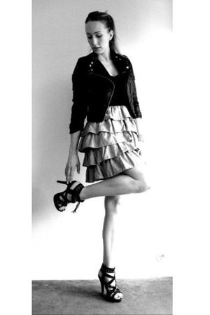 black H&M jacket - H&M dress - black Primark shoes