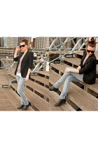 light blue Cheap Monday jeans - black Zara blazer - black The Local Firm sunglas