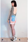 Red-american-flag-vintage-shorts-off-white-striped-american-apparel-bodysuit
