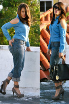 Forever 21 blouse - Levis jeans