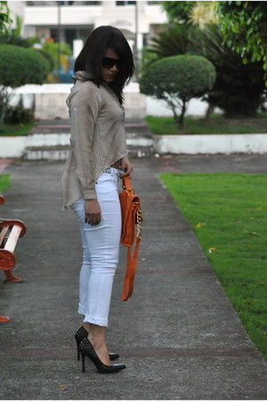 Sweet sweater - Rue 21 jeans - Rampage bag - Qupid heels
