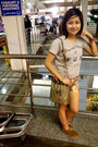 Brown-clutch-gucci-bag-yellow-florals-no-name-shorts