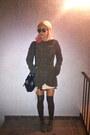 Suede-steve-madden-boots-babydoll-miu-miu-dress-coat