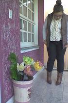 brown Cravo e canela boots - black asos jeans - beige DIY scarf