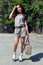 Brown-forever-21-shorts-gold-casio-accessories-pink-forever-21-accessories