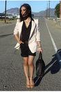 Pink-zara-blazer-gold-vintage-moschino-belt-black-h-m-shorts-black-alexand