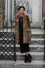 Black-zara-dress-brown-leopard-print-zara-coat-black-zara-purse
