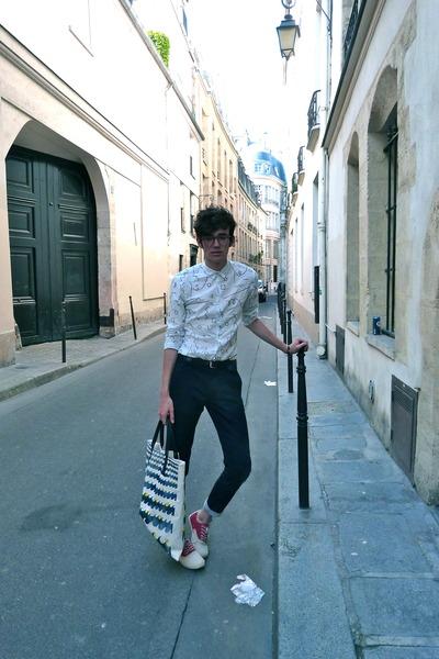 SANDRO shirt - Simeon Farrar bag - Marc by Marc Jacobs pants