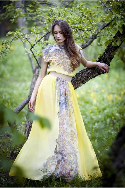 daisy yellow EFL dress