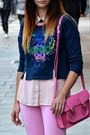 Bubble-gum-marlborough-world-bag-light-pink-primark-blouse-navy-kenzo-jumper
