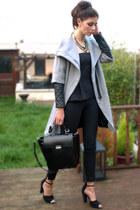 Zara coat - Zara bag - Zara romper - Zara heels - Primark necklace