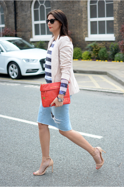 nude Zara heels - neutral Primark blazer - ruby red Marc by Marc Jacobs bag