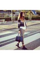 black Zara boots - silver Topshop jeans - black Primark jacket