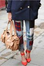Navy-h-m-coat-navy-primark-jeans-red-h-m-scarf-nude-mulberry-bag