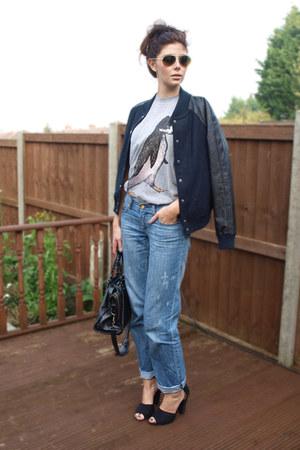 Pengat t-shirt - Primark jeans - Forever 21 jacket - balenciaga bag