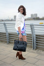 Dark-brown-zara-boots-white-zara-blazer-black-oasap-bag