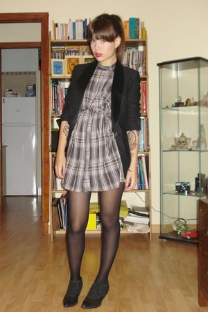 vintage shoes - viktor &amp; rolf blazer - Zara dress