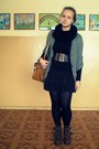 Boots-tights-cardigan-accessories-skirt