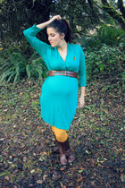 turquoise blue maternity dress Pink Blush Maternity dress