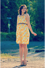 Yellow-lemon-print-self-made-dress