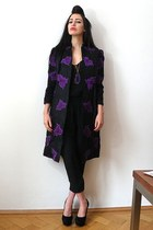 deep purple vintage jacket - black nolita romper