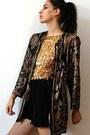 Dark-gray-vintage-jacket-black-vintage-shorts-gold-vintage-top