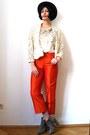 Camel-suede-asos-boots-ruby-red-felt-vintage-hat-ivory-sequin-vintage-top