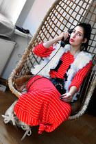 red Hand Made skirt - white Hand Made vest