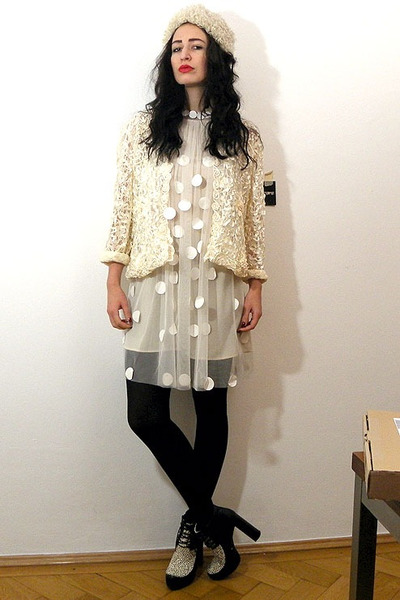 Stella McCartney dress - asos boots - kimono lace vintage jacket