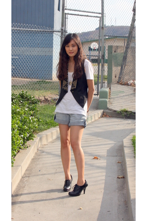 Forever21 vest - JCrew shirt - See Thru Soul shorts - shoes