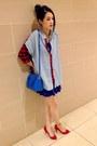 Navy-net-dress-blue-coach-bag-red-sophie-sam-heels