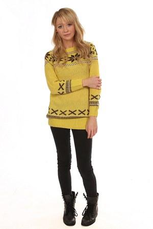 yellow Eleanor Rose jumper