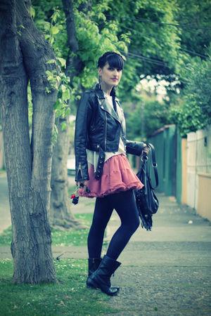 black combat boots boulevard boots - brown Missha jacket