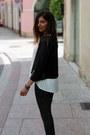 Black-eco-leather-northland-vicolo-jacket-white-king-kong-blouse