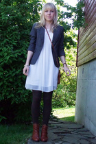 H&M blazer - Vila dress - Mom purse - Bianco shoes