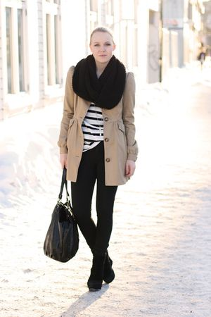coat - scarf - shirt - pants - purse - shoes