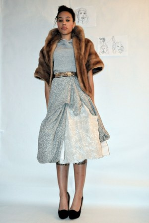 gray american apparel shawl skirt - tan Smock skirt