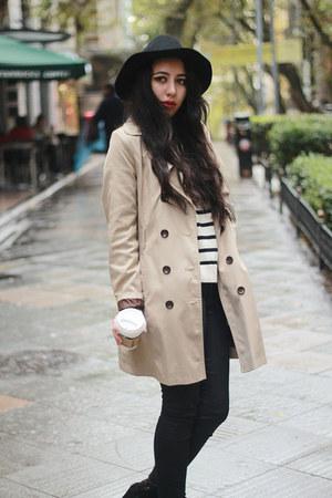 H&M hat - black Zara wedges - knit Mango jumper