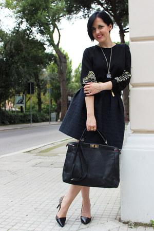 black Fendi bag - black Patrizia di Stefano pumps - black Sister Jane sweatshirt