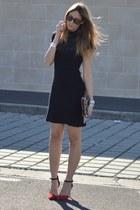 leopard print Stradivaiurs bag - red Zara heels