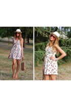 zalando dress - Panizza hat - Aldo wedges