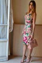 black celyn b sandals - hot pink Dolce & Gabbana dress - light pink Mulberry bag