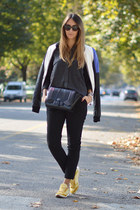 black Valentino sunglasses - c&a jacket - dark gray Zara shirt