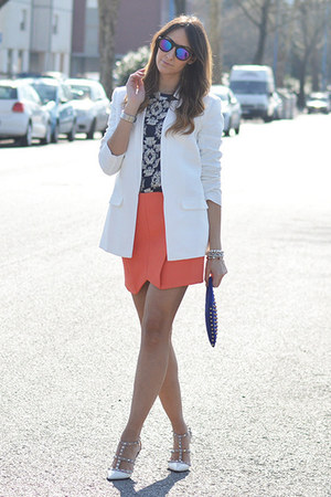 white cameo blazer - black zeroUV sunglasses - navy G Findings top