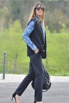 black Givenchy bag - teal True Religion shirt - black Valentino sunglasses