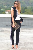H&M Man vest - camouflafe Prada bag - christian dior sunglasses - Zara pants