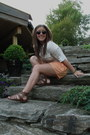 Shirt-h-m-shorts-vintage-sunglasses-sandals