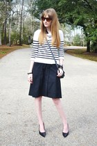 black worn as a skirt ann taylor dress - blue cotton striped Old Navy sweater